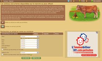 Farmzer - Acheter un animal aux encheres et autres interactions